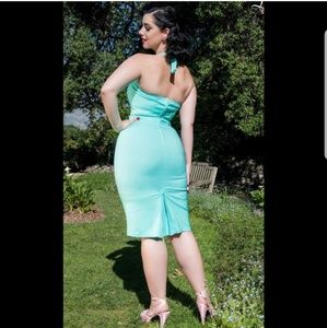 Pinup Couture Dresses - Halter wiggle dress